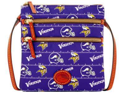 Minnesota Vikings Dooney & Bourke Nylon Triple Zip Crossbody