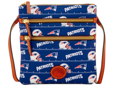 New England Patriots Dooney & Bourke Nylon Triple Zip Crossbody