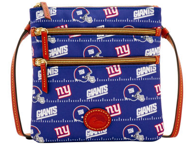 New York Giants Dooney & Bourke Nylon Triple Zip Crossbody