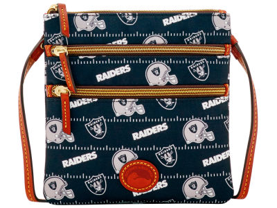 Oakland Raiders Dooney & Bourke Nylon Triple Zip Crossbody