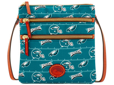 Philadelphia Eagles Dooney & Bourke Nylon Triple Zip Crossbody