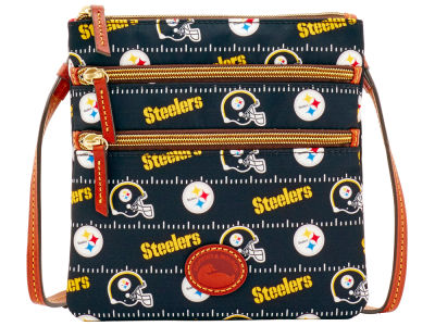 Pittsburgh Steelers Dooney & Bourke Nylon Triple Zip Crossbody