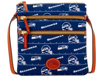 Seattle Seahawks Dooney & Bourke Nylon Triple Zip Crossbody