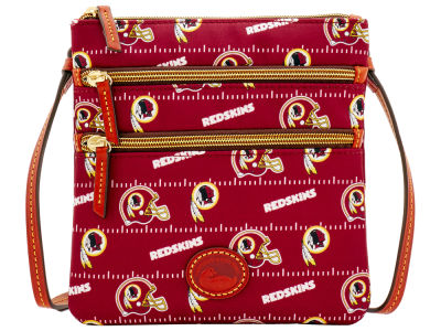 Washington Redskins Dooney & Bourke Nylon Triple Zip Crossbody