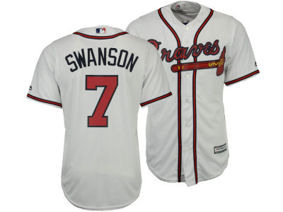 Atlanta Braves Dansby Swanson Majestic MLB Men's Player Replica CB Jersey