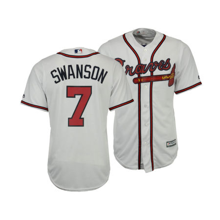 Atlanta Braves Dansby Swanson Majestic MLB Men's Player Replica Cool Base Jersey