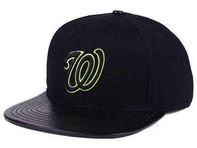 Washington Nationals Pro Standard MLB Black Volt Strapback Cap