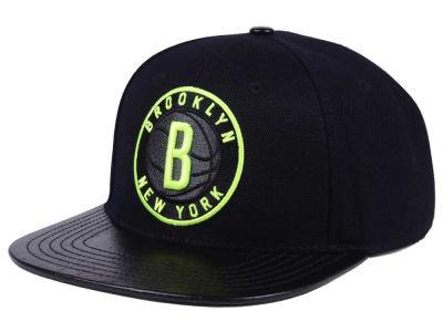 online store 0f536 14e83 Brooklyn Nets Pro Standard NBA Black Volt Strapback Cap