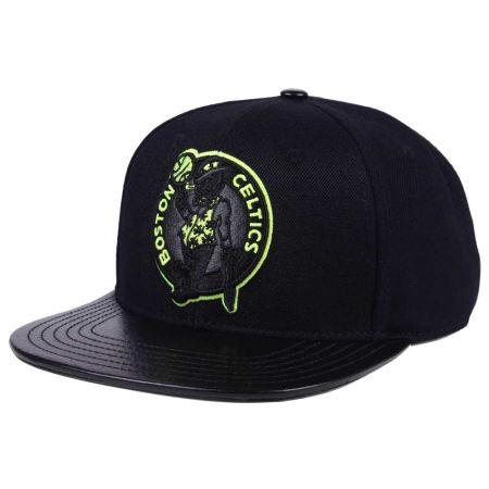 Boston Celtics Pro Standard NBA Black Volt Strapback Cap