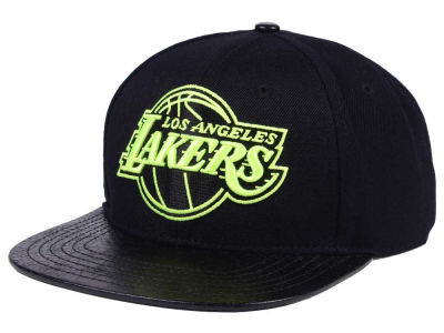Los Angeles Lakers Pro Standard NBA Black Volt Strapback Cap