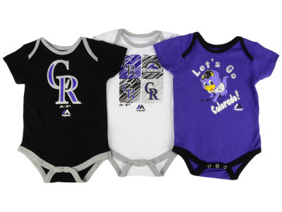 Colorado Rockies Majestic MLB Infant Go Team Bodysuit Set