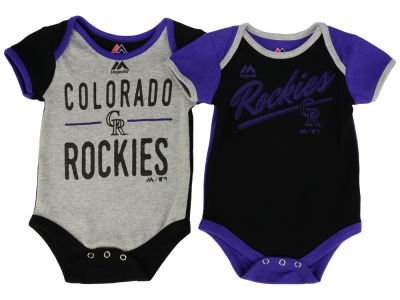 Colorado Rockies Majestic MLB Newborn 2 Piece Creeper Set