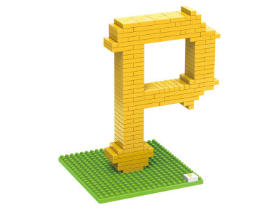 Pittsburgh Pirates BRXLZ 3D Logo Puzzle