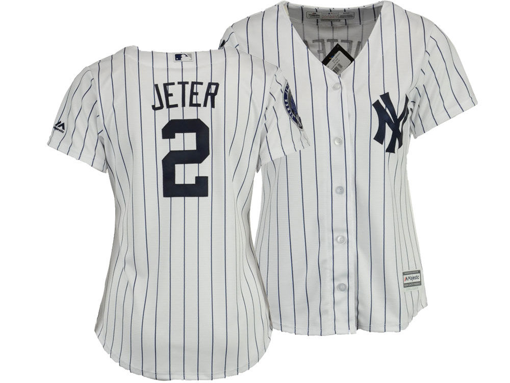New York Yankees Derek Jeter Majestic MLB Women s Player Cool Base Jersey  01490aebede