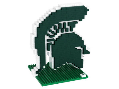 Michigan State Spartans BRXLZ 3D Brxlz- Logo