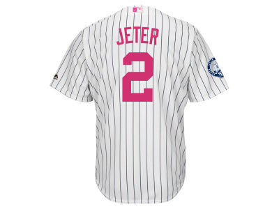 New York Yankees Derek Jeter Majestic MLB Mens Mothers Day Cool Base Jersey