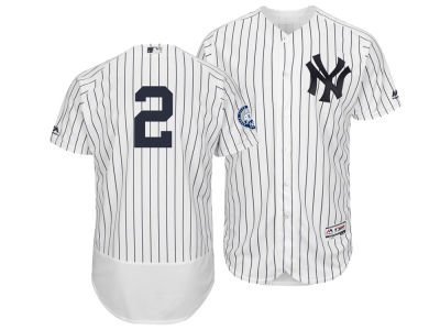New York Yankees Derek Jeter Majestic MLB Men's Flexbase On-Field Commomerative Jersey