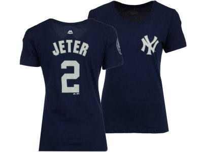 New York Yankees Derek Jeter Majestic MLB Women's Jeter Player T-Shirt