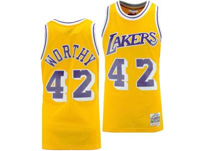 637158913 Los Angeles Lakers James Worthy Mitchell   Ness NBA Men s Hardwood Classic Swingman  Jersey