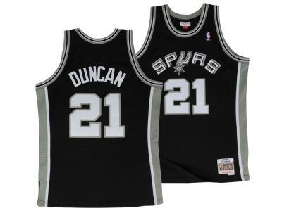 San Antonio Spurs Tim Duncan Mitchell & Ness NBA Men's Hardwood Classic Swingman Jersey