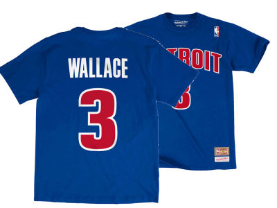 Detroit Pistons Ben Wallace Mitchell & Ness NBA Men's Hardwood Classic Player T-Shirt