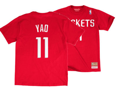 Houston Rockets Yao Ming Mitchell & Ness NBA Men's Hardwood Classic Player T-Shirt