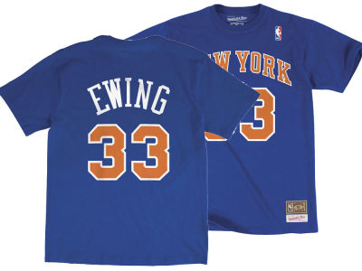 New York Knicks Patrick Ewing Mitchell & Ness NBA Men's Hardwood Classic Player T-Shirt