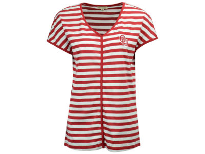 Oklahoma Sooners NCAA Women's Striped Dolman T-Shirt