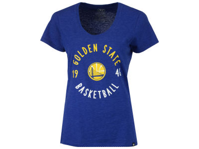 Golden State Warriors '47 NBA Women's Golden Club Scoop T-Shirt