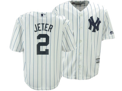 New York Yankees Derek Jeter Majestic MLB Youth Commemorative Patch Cool Base Jersey