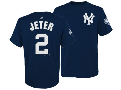 New York Yankees Derek Jeter Majestic MLB Youth Retirement Patch Player Tee