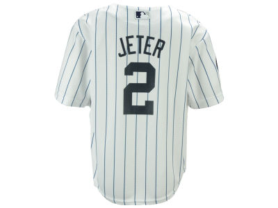 New York Yankees Derek Jeter Majestic MLB Kid's Commemorative Patch Cool Base Jersey