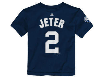 New York Yankees Derek Jeter Majestic MLB Toddler Retirement Patch Player Tee