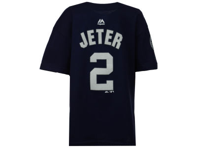 New York Yankees Derek Jeter Majestic MLB Kid's Retirement Patch Player Tee