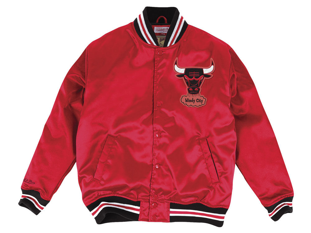 Chicago Bulls Mitchell  Ness NBA Mens Satin Jacket