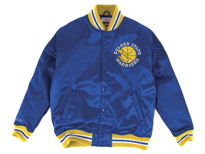 Golden State Warriors Mitchell & Ness NBA Men's Satin Jacket
