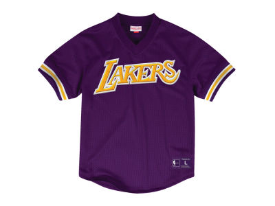 Los Angeles Lakers Mitchell & Ness NBA Men's Wordmark Mesh V-Neck Jersey