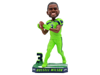 Seattle Seahawks Russell Wilson Color Rush Bobblehead