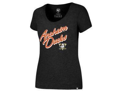 Anaheim Ducks '47 NHL Women's Hockey Script T-Shirt