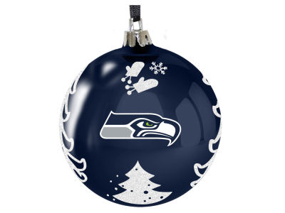 "Seattle Seahawks 3"" Plastic Christmas Tree Ornament"