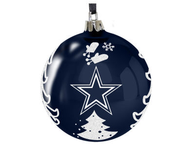 "Dallas Cowboys 3"" Plastic Christmas Tree Ornament"