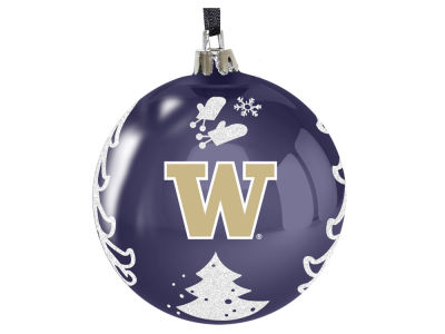 "Washington Huskies 3"" Plastic Christmas Tree Ornament"