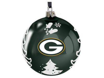 "Green Bay Packers 3"" Plastic Christmas Tree Ornament"