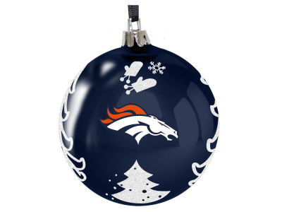 "Denver Broncos 3"" Plastic Christmas Tree Ornament"