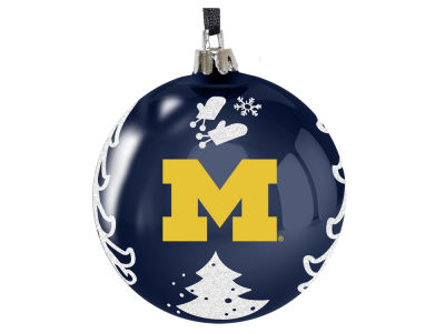 "Michigan Wolverines 3"" Plastic Christmas Tree Ornament"