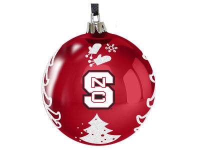 "North Carolina State Wolfpack 3"" Plastic Christmas Tree Ornament"