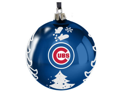 "Chicago Cubs 3"" Plastic Christmas Tree Ornament"