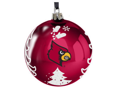 "Louisville Cardinals 3"" Plastic Christmas Tree Ornament"