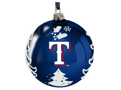 "Texas Rangers 3"" Plastic Christmas Tree Ornament"