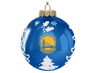 "Golden State Warriors 3"" Glass Christmas Tree Ornament"
